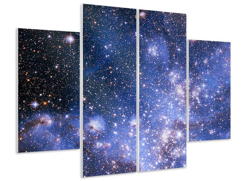 Hartschaumbild 4-teilig Sternenhimmel