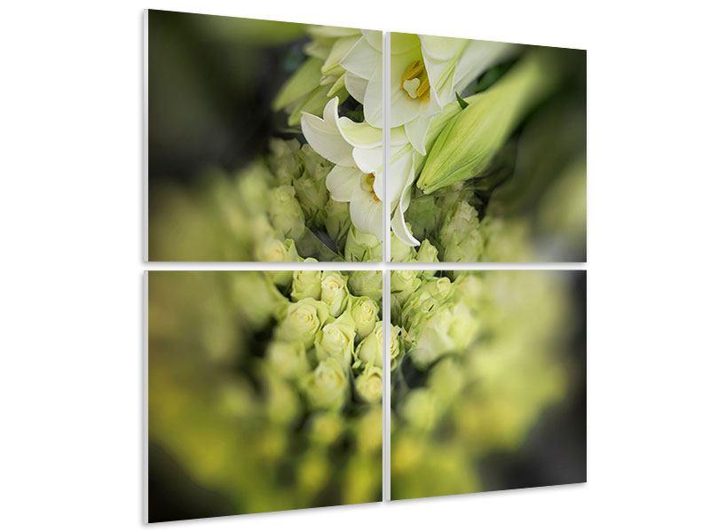 Hartschaumbild 4-teilig Die Lilien und Friends