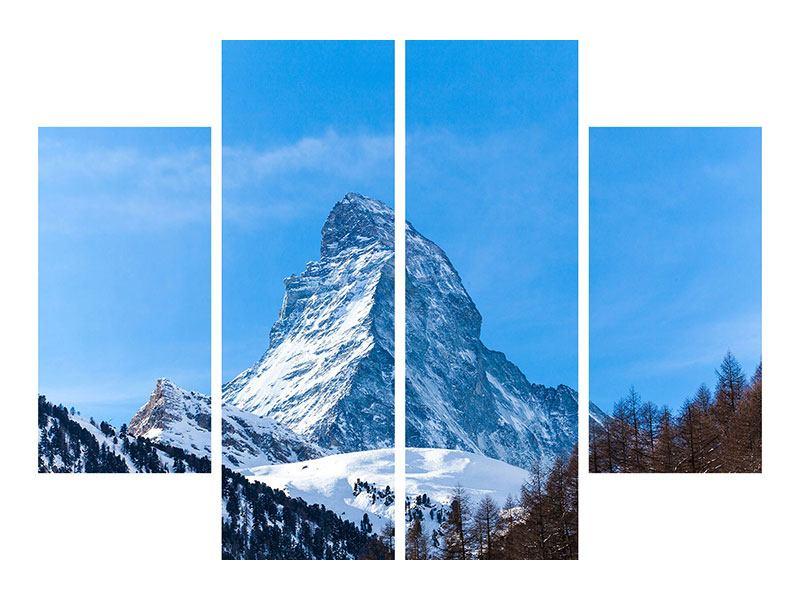 Hartschaumbild 4-teilig Das majestätische Matterhorn