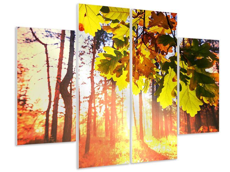Hartschaumbild 4-teilig Herbst