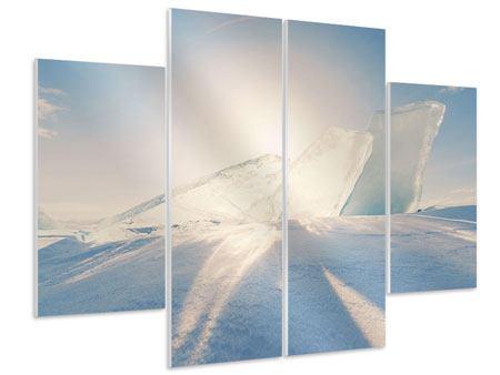 Hartschaumbild 4-teilig Eislandschaft