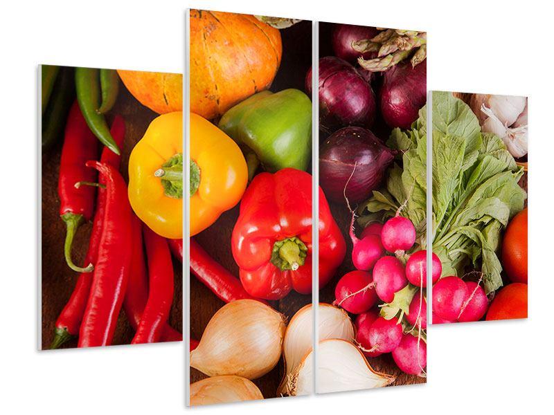 Hartschaumbild 4-teilig Gemüsefrische