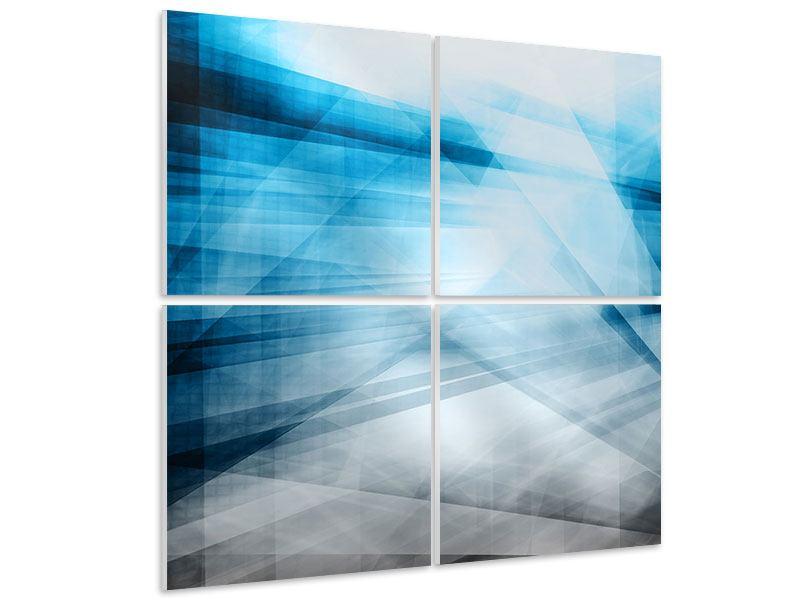 Hartschaumbild 4-teilig Abstrakte Lichtshow