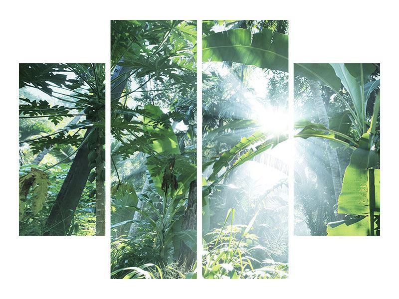 Hartschaumbild 4-teilig Dschungelstar