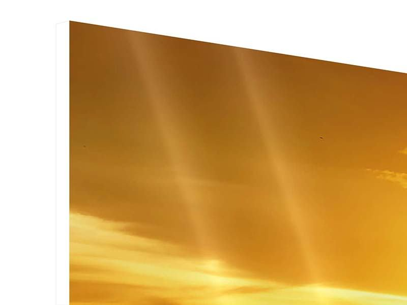 Hartschaumbild 4-teilig Traumhafter Sonnenuntergang