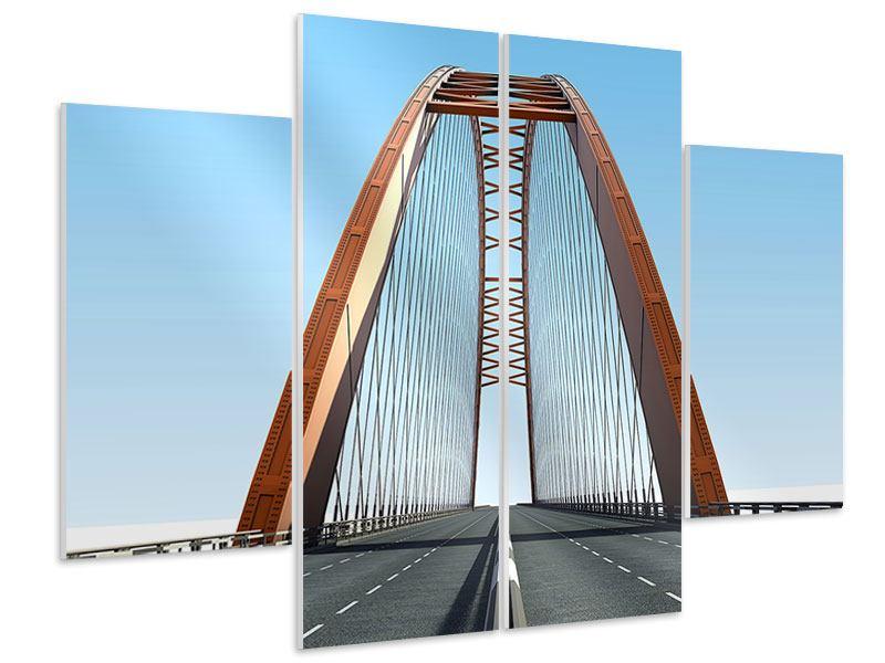 Hartschaumbild 4-teilig Brückenpanorama