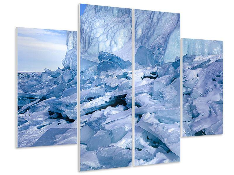 Hartschaumbild 4-teilig Eislandschaft Baikalsee