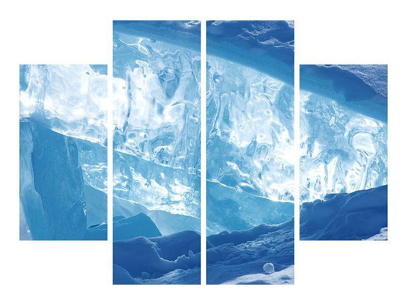 Hartschaumbild 4-teilig Baikalsee-Eis