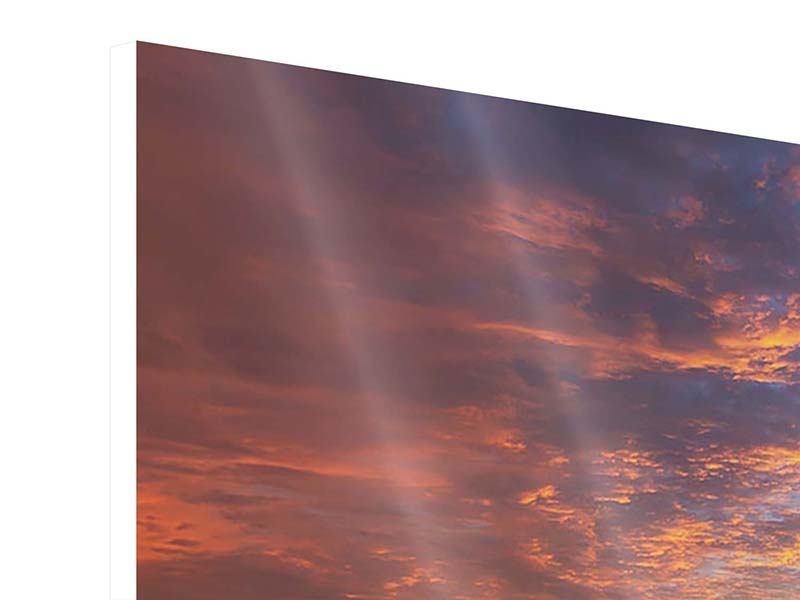 Hartschaumbild 4-teilig Sonnenuntergang