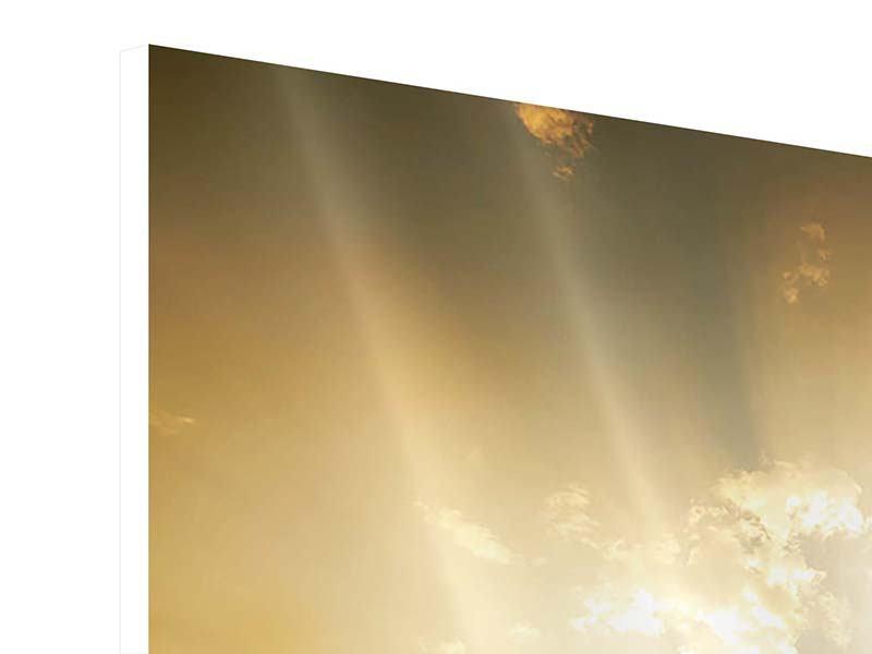 Hartschaumbild 4-teilig Mystischer Sonnenuntergang