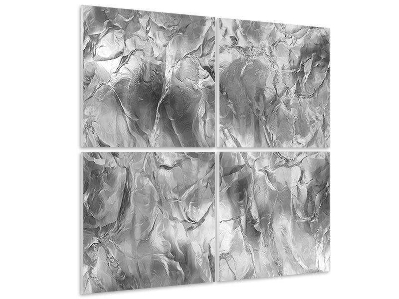 Hartschaumbild 4-teilig Eiswand
