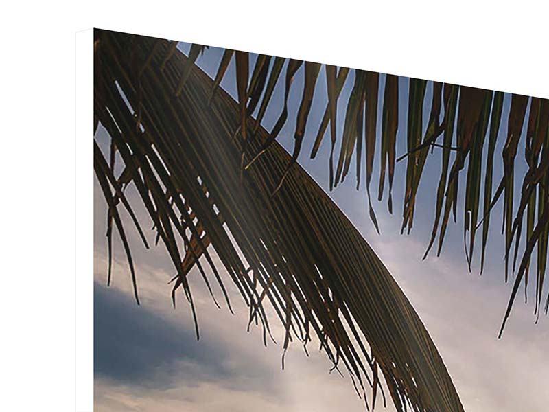 Hartschaumbild 4-teilig Strandpalme