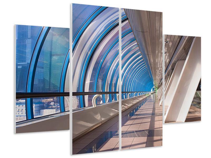 Hartschaumbild 4-teilig Hypermoderne Brücke