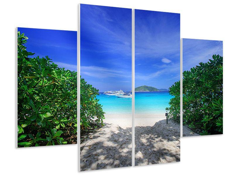 Hartschaumbild 4-teilig Similan-Inseln