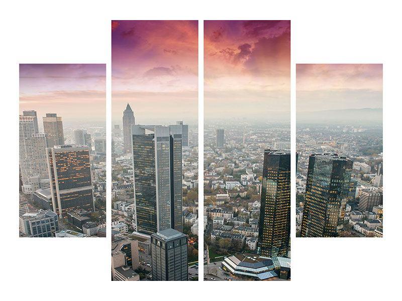 Hartschaumbild 4-teilig Skyline Penthouse in New York