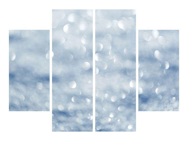 Hartschaumbild 4-teilig Kristallglanz