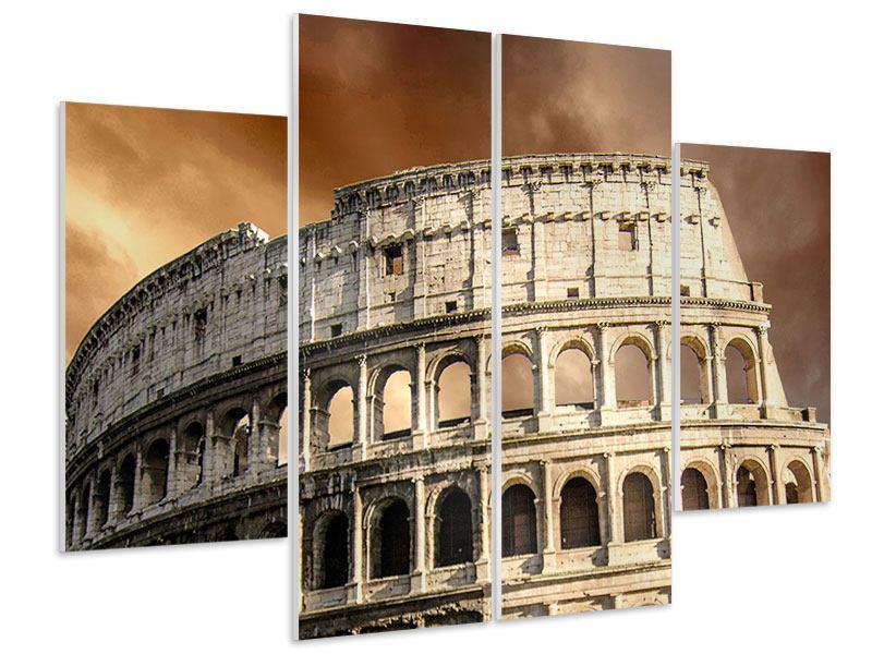 Hartschaumbild 4-teilig Kolosseum Rom