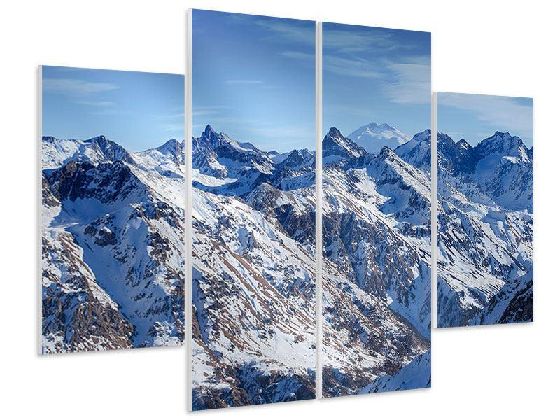 Hartschaumbild 4-teilig Gipfelspitzen
