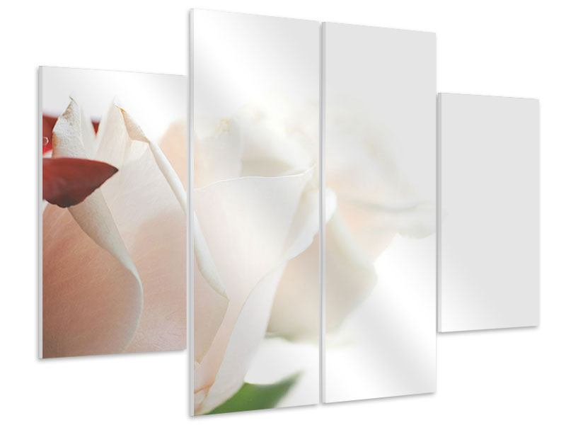 Hartschaumbild 4-teilig Herrliche Rosen