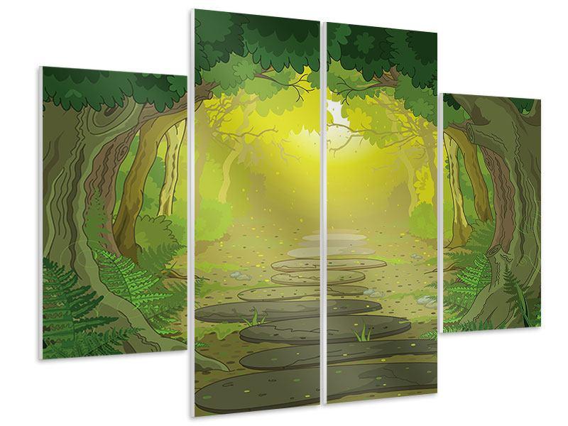 Hartschaumbild 4-teilig Der Märchenwald