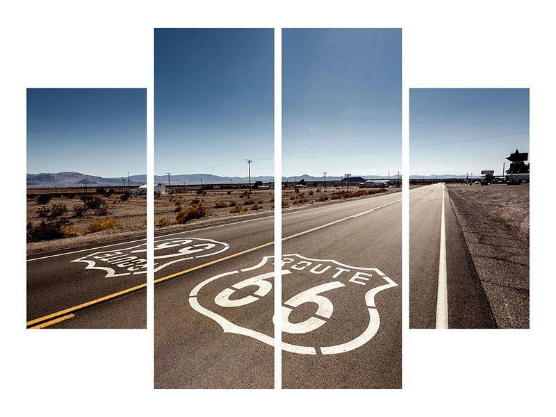 Hartschaumbild 4-teilig Route 66