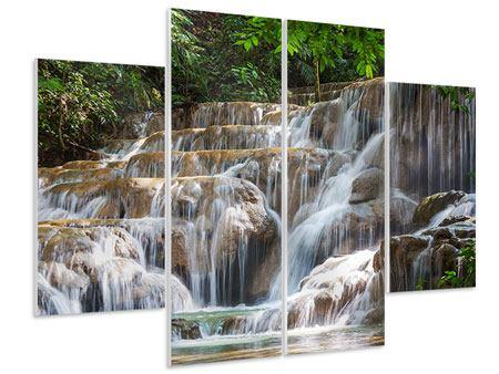 Hartschaumbild 4-teilig Mexikanischer Wasserfall
