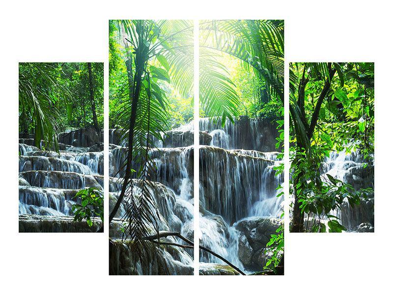 Hartschaumbild 4-teilig Wasserfall Agua Azul