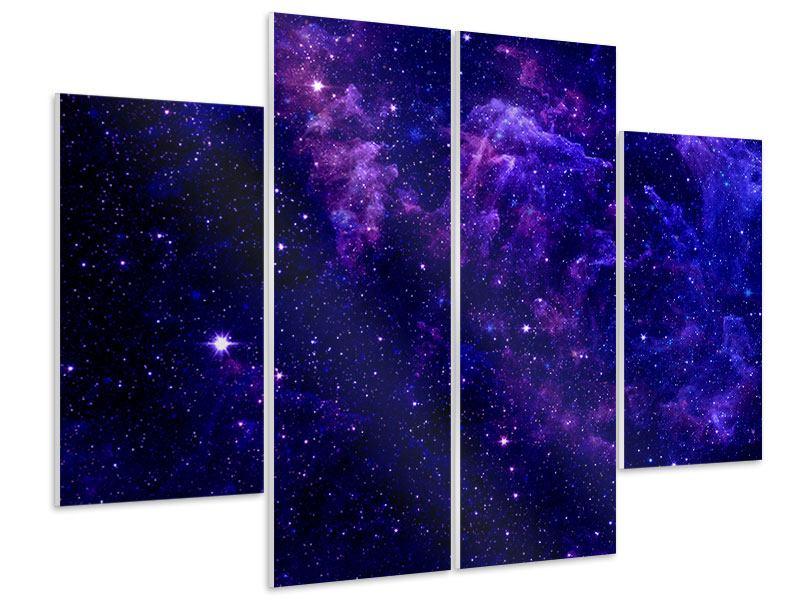 Hartschaumbild 4-teilig Ein Himmel voll Sterne