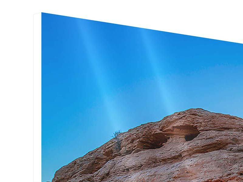Hartschaumbild 4-teilig Sonnenuntergang am Mesa Arch