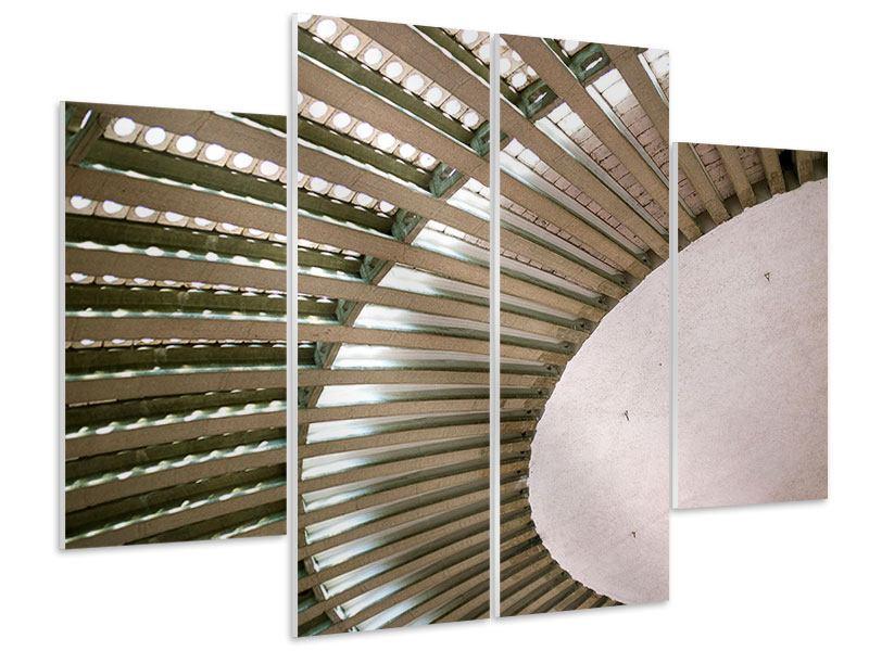 Hartschaumbild 4-teilig Abstraktes Rad