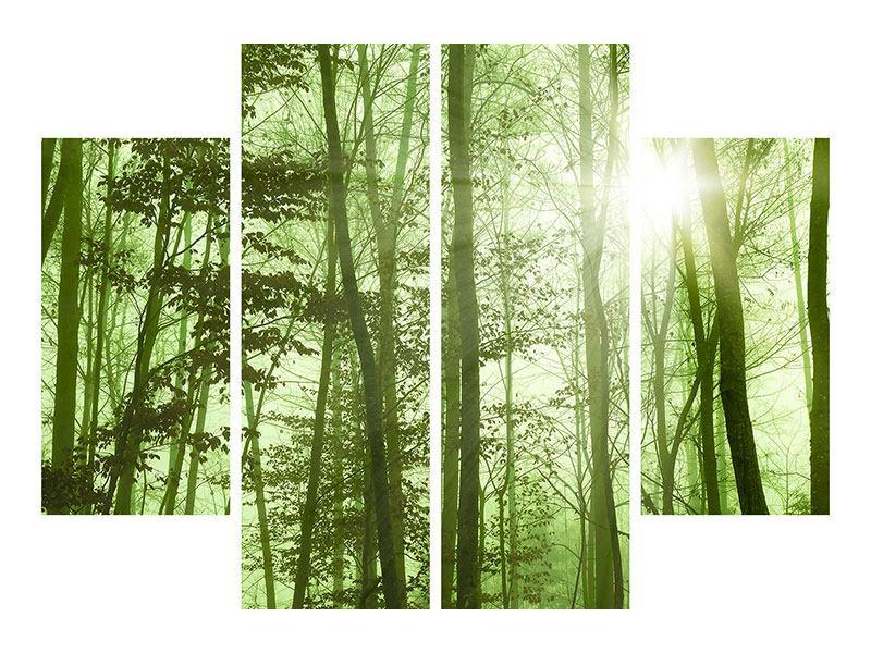 Hartschaumbild 4-teilig Nibelungenwald