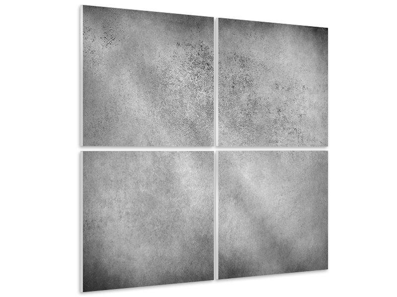 Hartschaumbild 4-teilig Graue Wandschattierungen