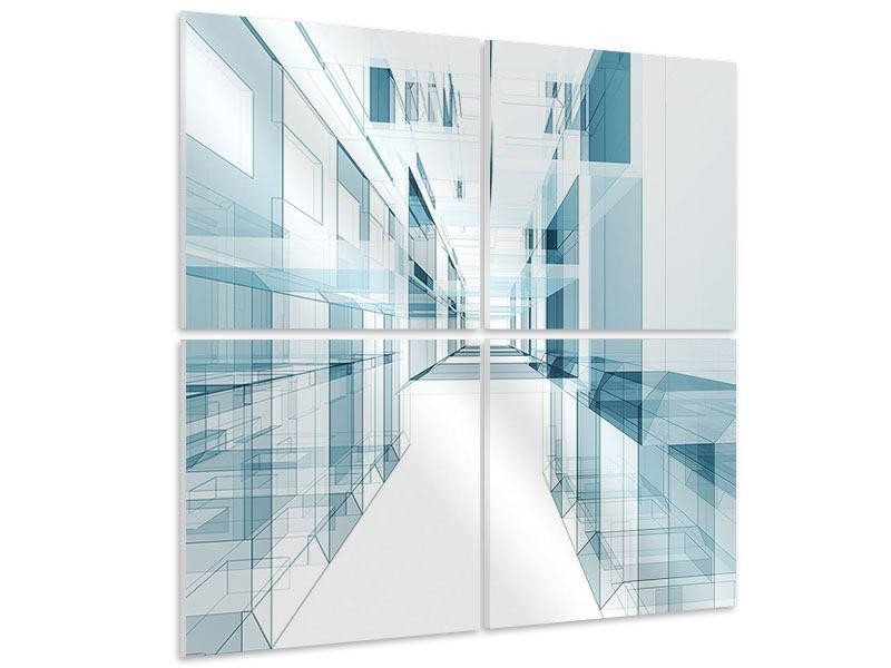 Hartschaumbild 4-teilig Raum der Räume