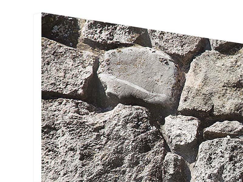 Hartschaumbild 4-teilig Grosses Mauerwerk
