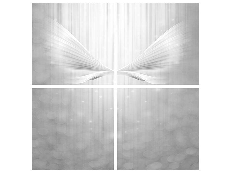 Hartschaumbild 4-teilig Engelsflügel