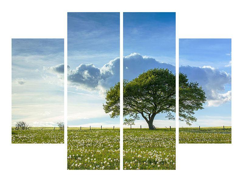 Hartschaumbild 4-teilig Frühlingsbaum