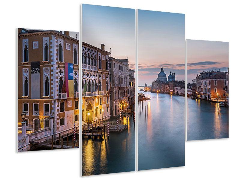 Hartschaumbild 4-teilig Romantisches Venedig