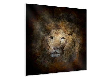 Hartschaumbild Löwenportrait