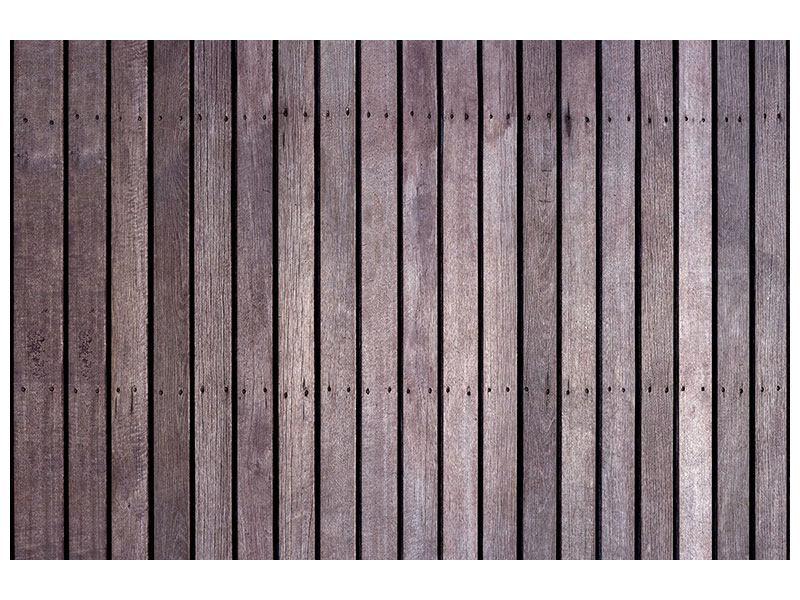 Hartschaumbild Holzwand