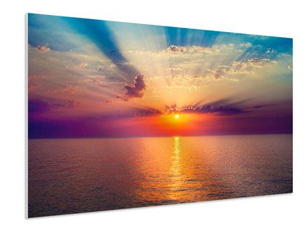 Hartschaumbild Mystischer Sonnenaufgang