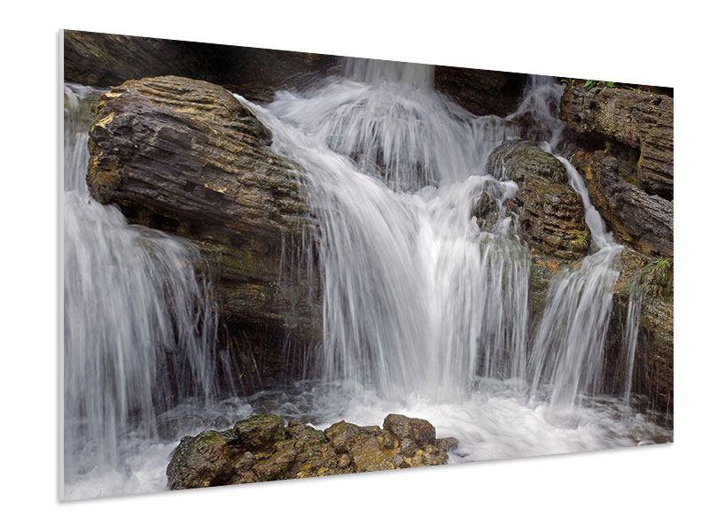 Hartschaumbild Wasserfall XXL
