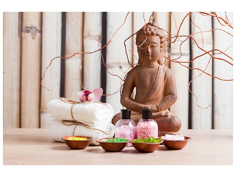 Hartschaumbild Buddha + Wellness