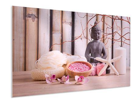 Hartschaumbild Spa + Buddha