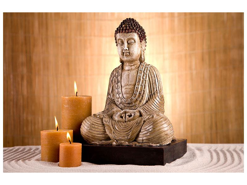 Hartschaumbild Buddha in der Meditation