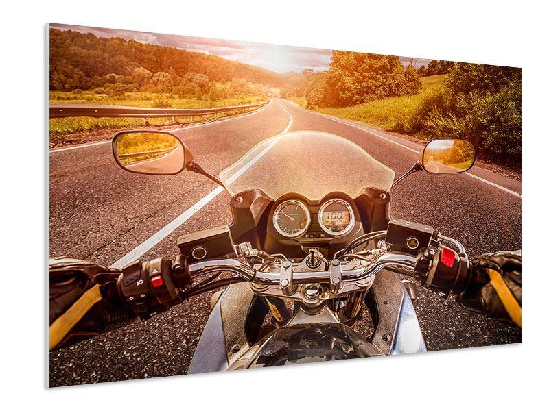 Hartschaumbild Motorrad-Tour