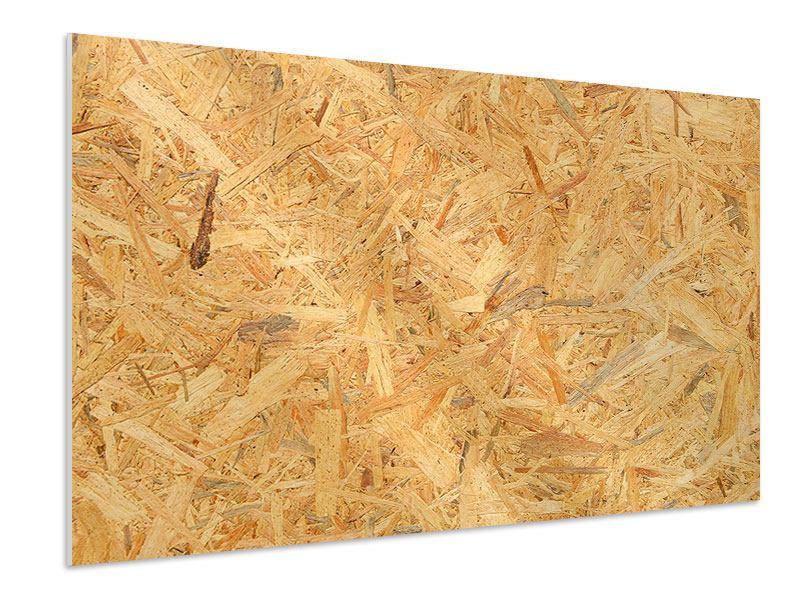Hartschaumbild Gepresstes Holz