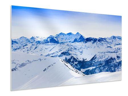 Hartschaumbild Die Schweizer Alpen