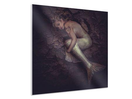Hartschaumbild Meerjungfrau