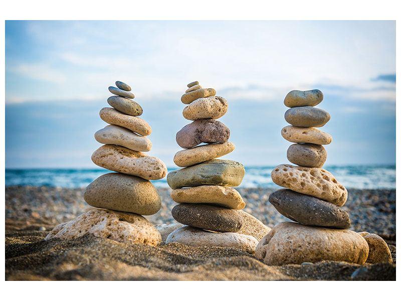 Hartschaumbild Drei Steinstapel