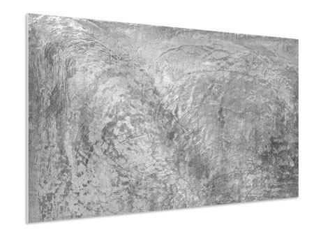 Hartschaumbild Wischtechnik in Grau